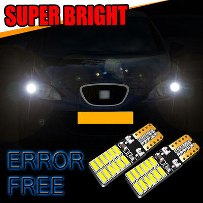 Seat Exeo 3R5 White 4-LED Xenon Bright ICE Side Light Beam Bulbs Pair Upgrade