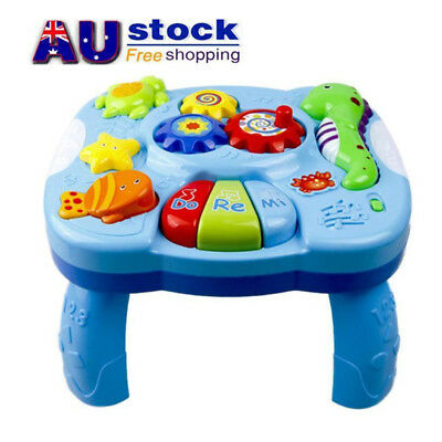 AU Toddler Baby Musical Educational Sea Animal Learning Table Music Toy For Gift