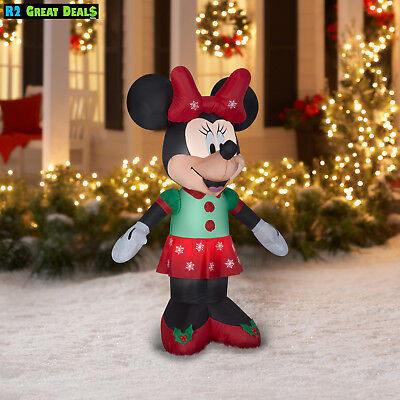 airblown inflatable minnie mouse 5 ft christmas decoration by gemmy