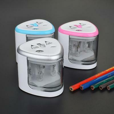 Tenwin Electric Pencil Sharpener Stationery Safety Automatic Battery Powered
