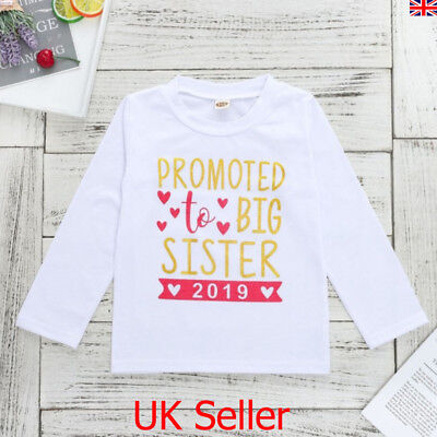 Kids Baby Girls 2019 Big Sister Long Sleeve Tops T Shirt Toddler Clothes Outfits