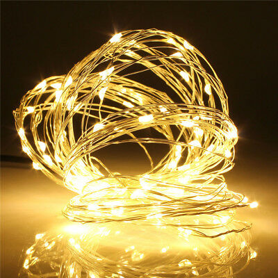 10M 100LED USB LED Copper Wire Fairy String Light Wedding Xmas Party Decor