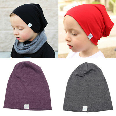 Baby Kids Unisex Soft Cotton Turban Hat Cap Bow Casual Head Wrap Cap Stretch&
