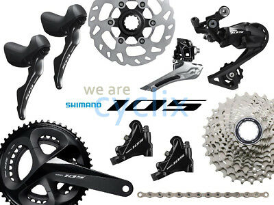 db0324c17de New 2019 Shimano 105 R7000 R7020 Hydraulic Disc Brake Groupset with Rotors