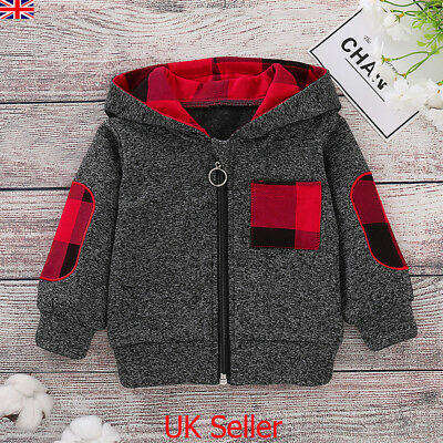 Infant Kids Baby Boys Girls Winter Hoodie Tops Hooded Zipper Coat Jacket Clothes