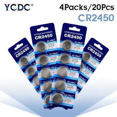 CR2450 DL2450 BR2450 LM2450 5029LC 3V Button Coin Cell Battery Bulk Lot 20Pcs 1