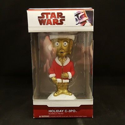 "Funko Star Wars C-3Po Holiday Exclusive 5"" Wacky Wobbler Bobble Head"