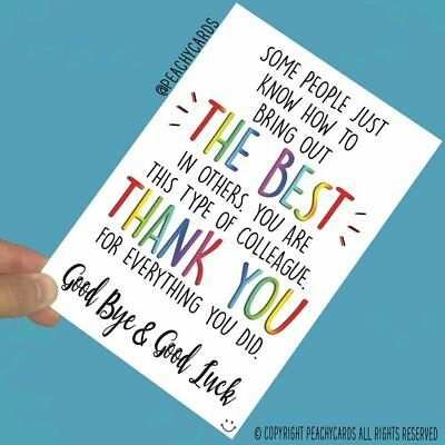 Leaving Job Greeting Cards Colleague Farewell Bye Good Luck New Job PC612