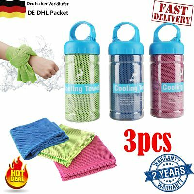 3pcs/Packet Cold Towel Summer Sports Ice Cooling Towel Hypothermia Cool Towel