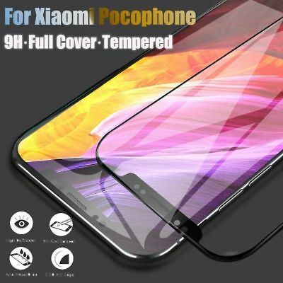 For Xiaomi pocophone F1 3D Full Cover Tempered Glass Screen Protector UK