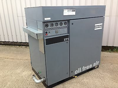 Atlas Copco ZT1-54 Oil Free Air Industrial Screw Compressor 8-bar 175cfm (83L/s)