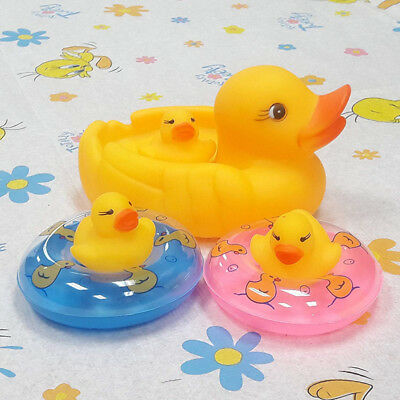 6PCS Lovely Rubber Ducky Bath Toy Floating Party Favor Baby Bathing Shower Toys
