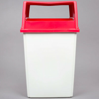 RUBBERMAID 56 Gallon Container - Red Glutton Lid &  Lt.  Base