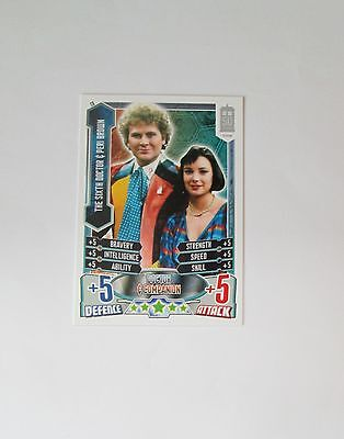 Doctor Who Alien Attax 50th Anniversay set - C6 The Sixth Doctor & Peri Brown