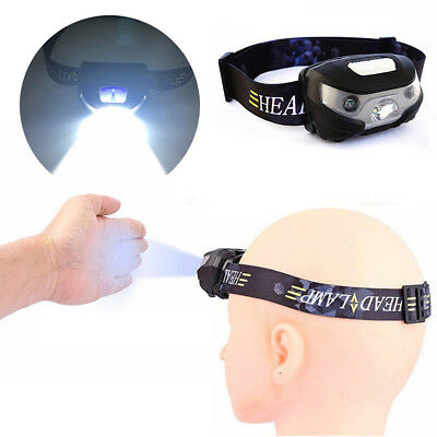 USB Rechargeable LED Sensor Headlamp Headlight Head Torch Flashlight Waterproof