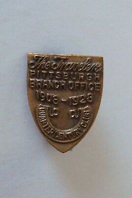 The Travelers Ins Co Quarter Century Club 1903-1928 Lapel Pin Pittsburgh Branch