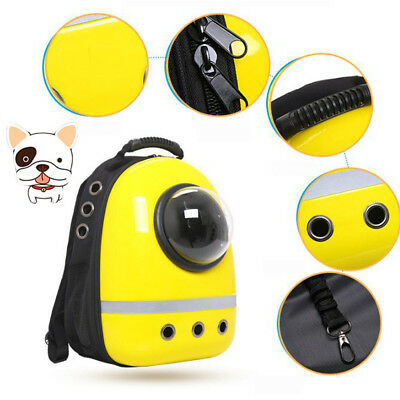 Rose Red/ Yellow/Black Pet Cat Space Capsule Portable Carrier Travcel Backpack