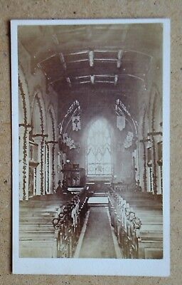 CDV: Interior of a Church. By W. A. Wright, Newmarket, Suffolk 1870s