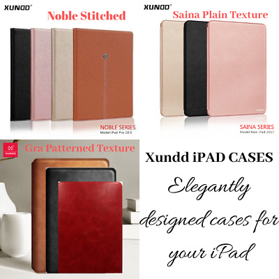 Xundd Genuine Leather Luxury Magnetic Flip Book Case Stand Wallet Cover For iPad