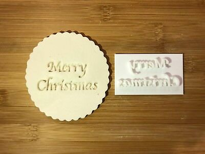 Embossing for cupcake and cake - stamps sugar paste MERRY CHRISTMAS