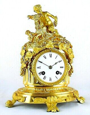 Absolutely Stunning 19th C Gilt Ormolu Mantel Clock