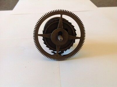 Antique LongCase Grandfather Clock Drive Wheel Cog Weight Driven 83mm