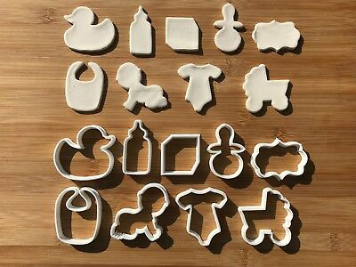 9pcs Baby-Shower Biscuit Cookie Cutter Fondant Cake Decorating Mold Cupcake