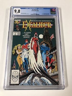 Excalibur 1 Cgc 9.8 White Pages!  Nightcrawer Kitty Pryde 1988 Series