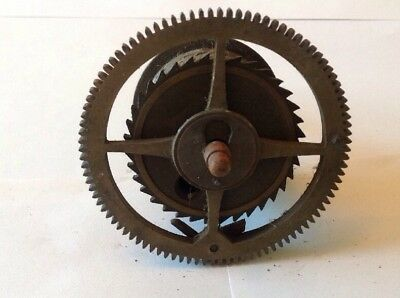 Antique LongCase Grandfather Clock Drive Wheel Cog Weight Driven 81mm