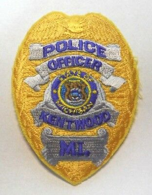 Old Kentwood Michigan Police Vest Hat Patch Unused