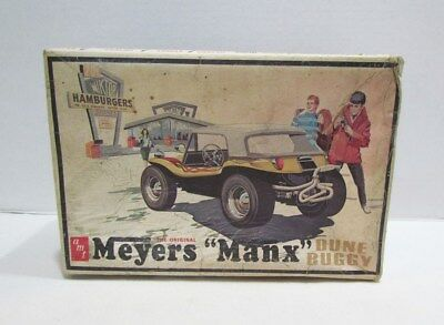 AMT MEYERS MANX DUNE BUGGY MODEL KIT 1/25 BUILT-UP W/ BOX VINTAGE 1960's AS-IS