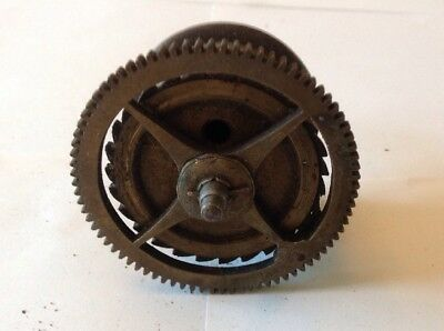 Antique LongCase Grandfather Clock Drive Wheel Cog Weight Driven 72.5mm