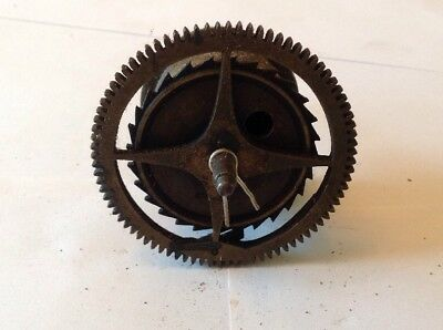 Antique LongCase Grandfather Clock Drive Wheel Cog Weight Driven 74.5mm