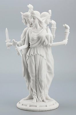 Hecate Greek Goddess of Magic & Witchcraft Statue Sculpture Figurine Altar Decor