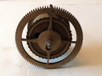 Antique LongCase Grandfather Clock Drive Wheel Cog Weight Driven 78.5mm