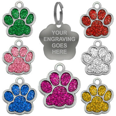 Engraved Dog Tag Personalised Puppy Charm Collar Pet Animal Canine Pooch ID Neck