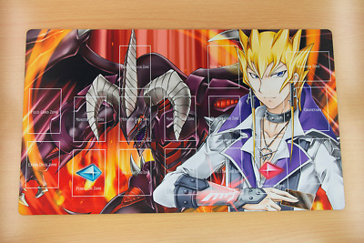 F2545+ Free Mat Bag Jack Atlas Red Dragon Archfiend Yugioh TCG Playmat With Zone