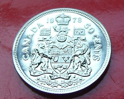 Proof like gem 1978  CANADA 50 Cents, High Quality with Holder