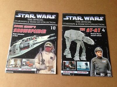 Star wars: the official starship and vehicles collection fascicoli numeri 4 e 10