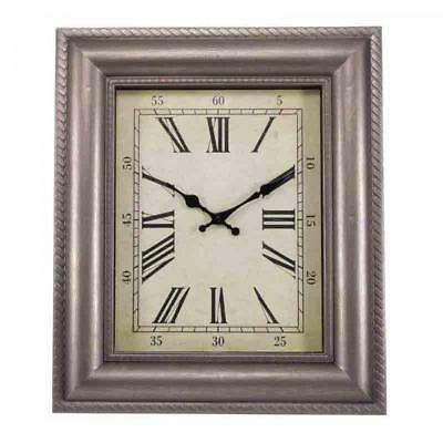 Smart Garden Quadrant Square Contemporary Wall Clock Indoor Outdoor Use