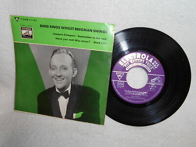"7"" Ep Bing Crosby -- Bing Sings Whilst Bregman Swings"
