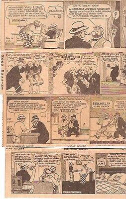 C890 Lot Of 51 Moon Mullens 1942 Daily Newspaper Golden Vintage Comic Strips