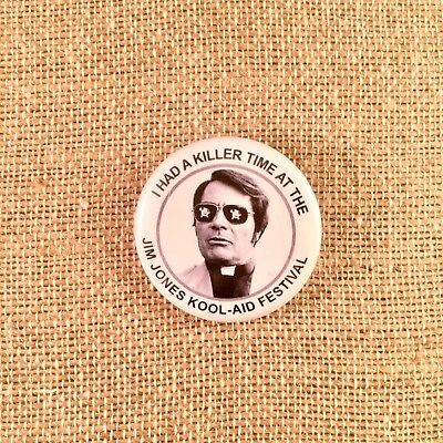 Jim Jones Peoples Temple Button Pinback Pin Bottle Opener Keychain Magnet Cult