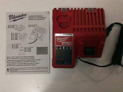 Milwaukee 48-59-1812 18V 18 Volt M12 / M18 Lithium Ion Charger New
