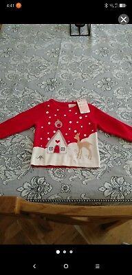 Mothercare Christmas Jumper 6-9 Months Brand New rrp £12