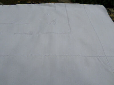 Beautiful French Vintage Linen Sheet 7Ft 8 Ins Wide KING Art Deco Detail 4 of 4