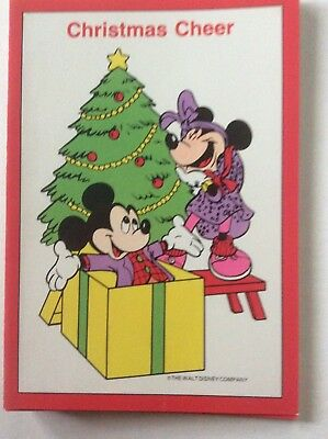 8 Unused Vintage Grand Award Christmas Cards Walt Disney Co Micky & Minnie Mouse