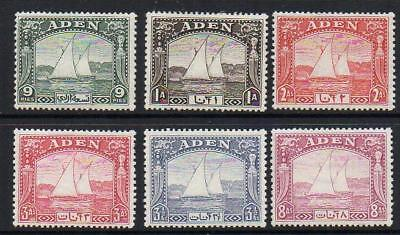 ADEN 1937 Group of 6  Mounted Mint + gum  Good Looking Sound  & Collectable