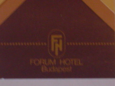 Vintage 1990's Forum Hotel Budapest Hungary Matchbook in New/Unused Condition!