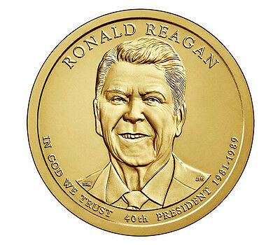 2016, 10 Coin Set 5P & 5D PRESIDENT REAGAN, LAST PRESIDENT MINTED, Uncirculated